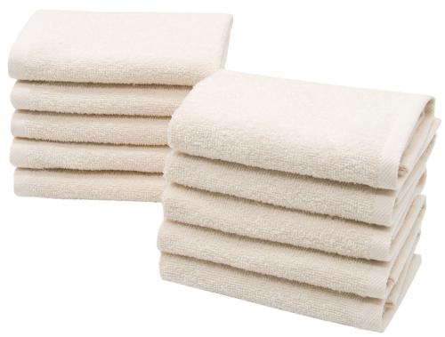 Gästehandtücher (10er-Set), 100 % Baumwolle, versch. Farben