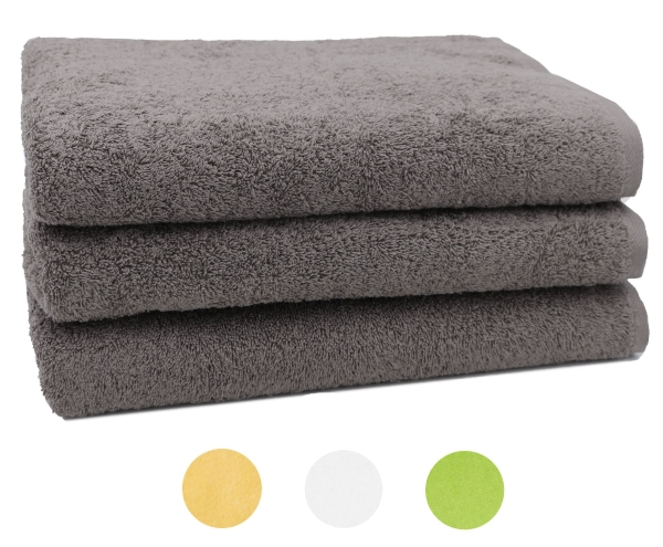 3er Set Duschtuch Aus 100 Saugfähiger Baumwolle Größe Ca 70x140