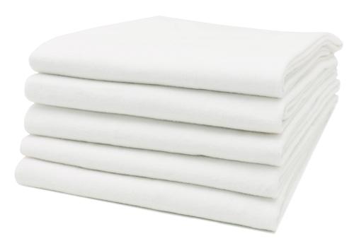 Flanellwindeln (5er-Set), weiß, 100 % Baumwolle