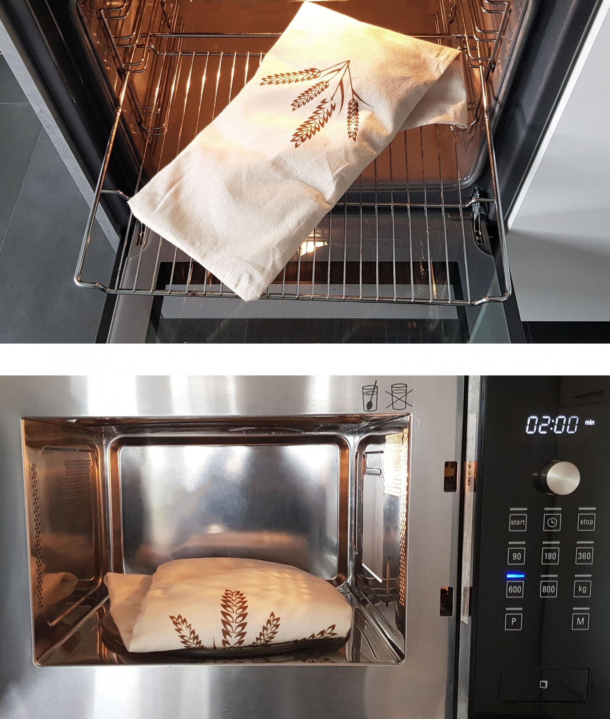 Kirschkernkissen (abnehmbaren Bezug), 100 % Baumwolle