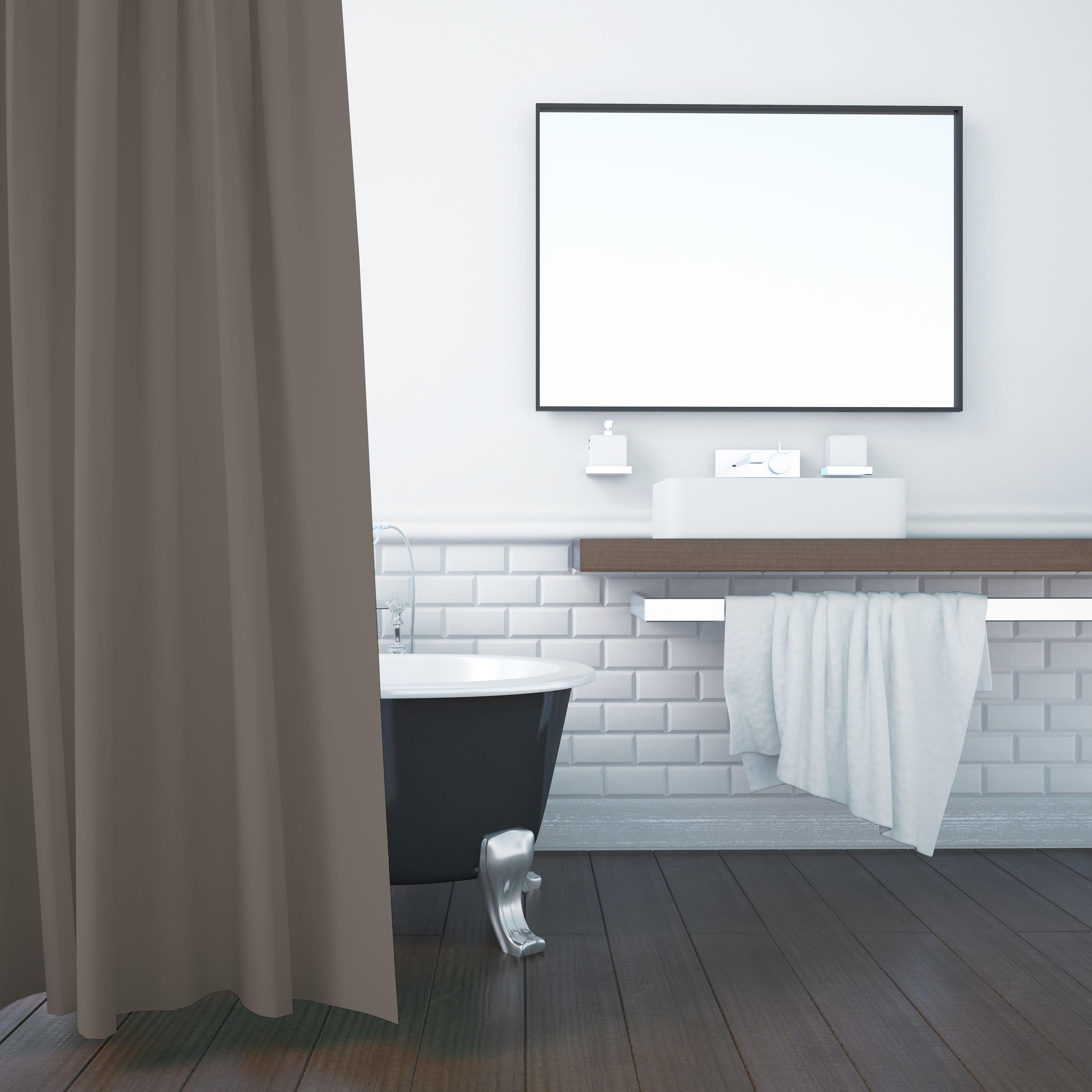 Umweltfreundlicher Duschvorhang aus PEVA