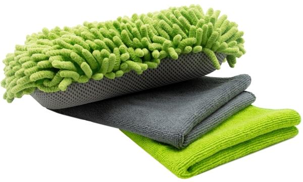 Autopflegeset (3-teilig), grün/grau