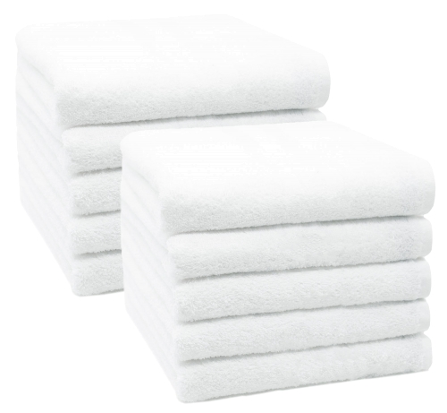 Handtücher (10er-Set), 100% Baumwolle, weiß