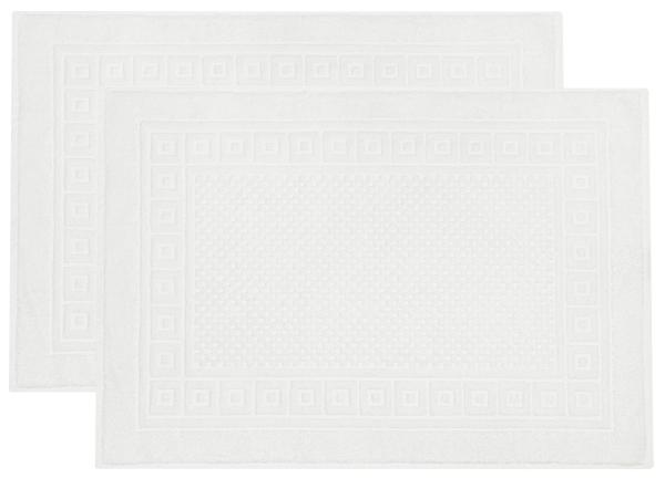 Badevorlage mit Waffelmuster (2er-Set), 100% Baumwolle, versch. Farben.