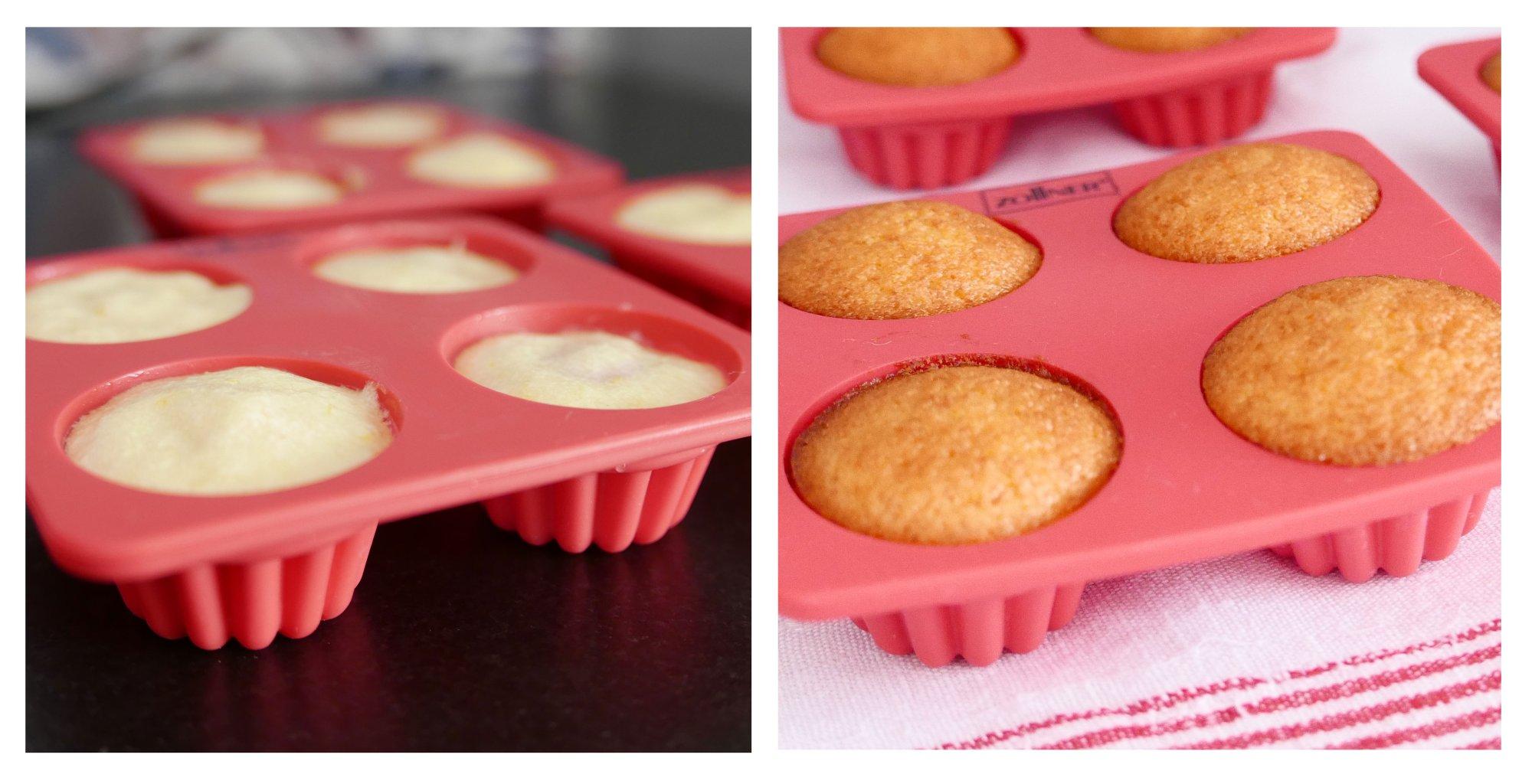 Gugelhupfform aus Silikon (3er-Set), für je 4 Muffins