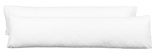 Seitenschläferkissenbezug (2er-Set), versch. Größen, weiß