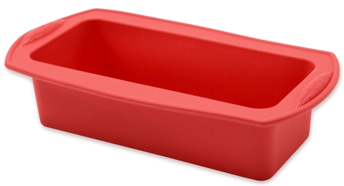 Kastenform aus Silikon, 21x8,5x6 cm, rot