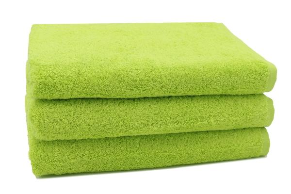 Duschtuch (3er-Set), 100 % Baumwolle, versch. Farben