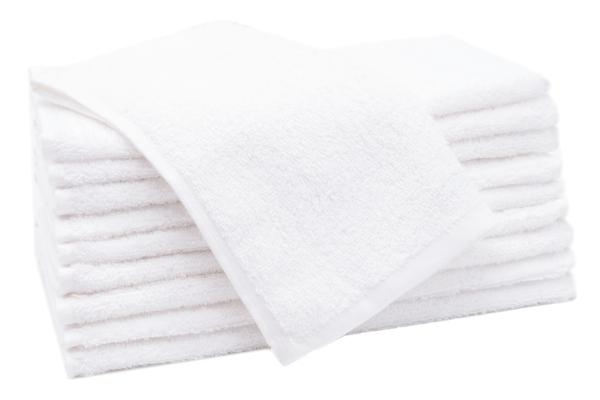 Gästehandtücher (10er-Set), 100 % Bauwolle, weiß