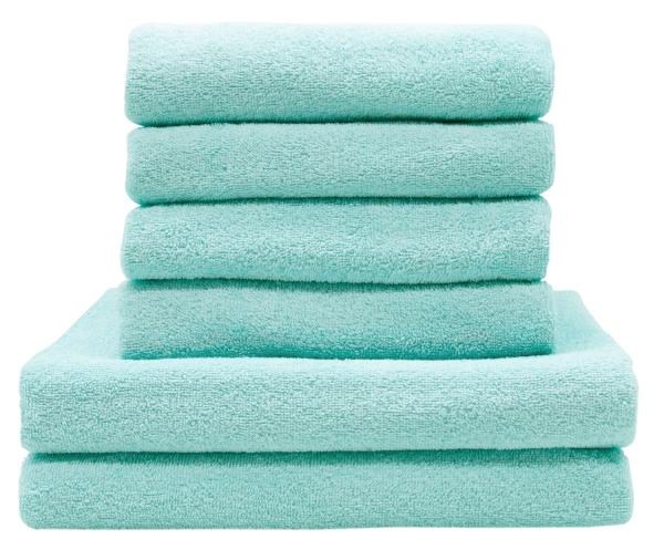 Handtuchset (6-tlg.), 100 % Baumwolle