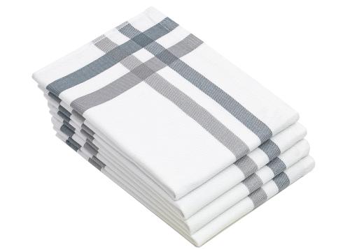 Geschirrtücher (4er-Set), 100% Baumwolle, weiß