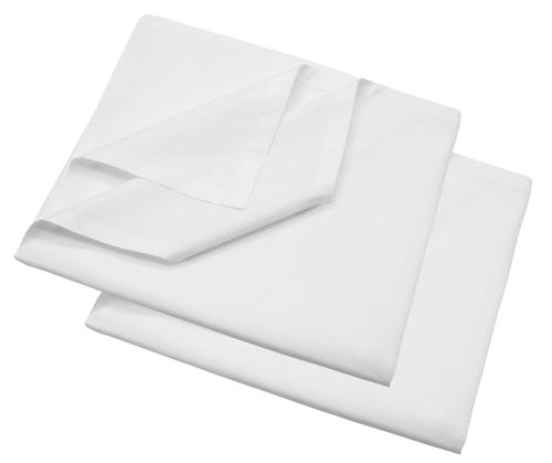 Bettlaken 100 % Baumwolle, 140 g/qm, versch. Größen, weiß