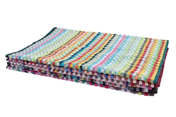 5er-Set Allzwecktücher/Küchenhandtuch aus 100% saugfähiger Baumwolle, Größe ca. 45x90 cm, bunt sortiert