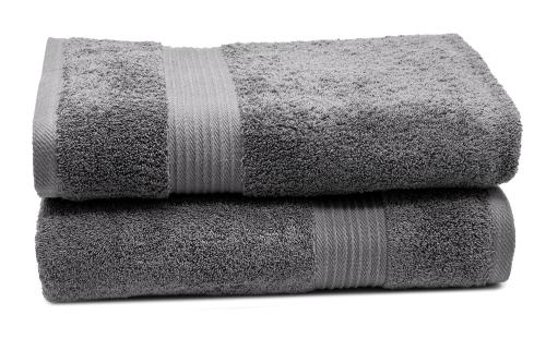 Badetücher (2er-Set), 100% Baumwolle, versch. Farben