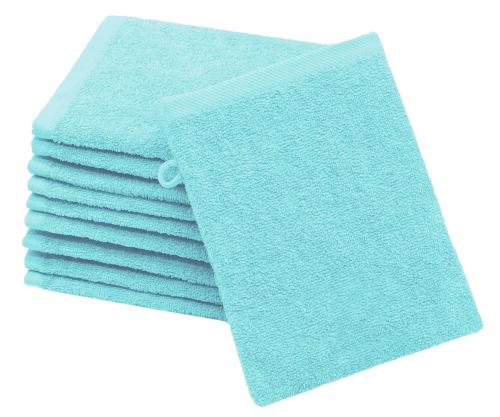Waschlappen (10er-Set), 100% Baumwolle, versch. Farben