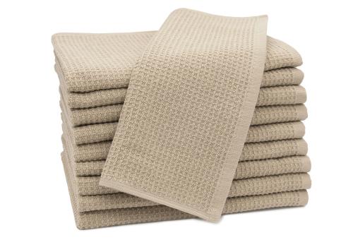 Gästehandtücher (10er-Set), 100% Baumwolle, Waffelpique