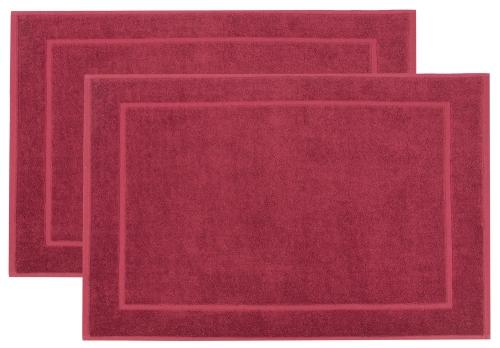 Badvorleger (2er Set), 100% Baumwolle, versch. Farben