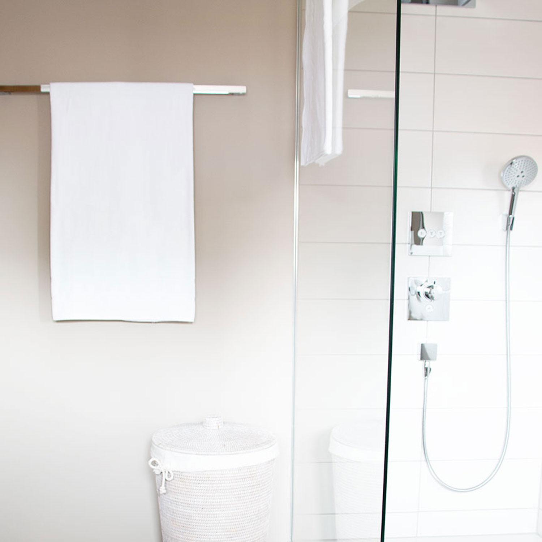 Badetücher (2er-Set) Baumwolle, 100x150 cm, weiß