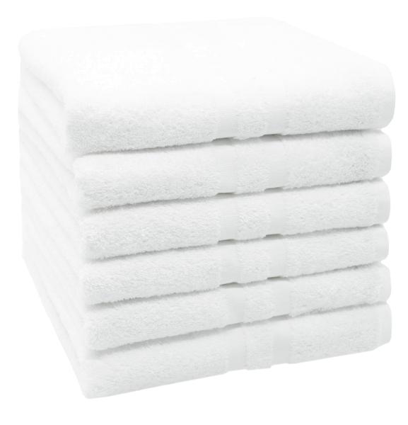 Handtuchset (6er/10er-Set), 50x100 cm, weiß