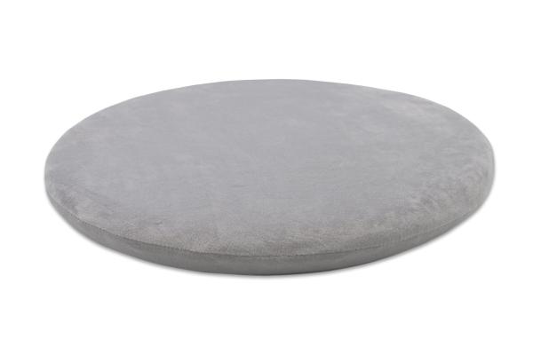 hochwertiges Viskose-Sitzkissen aus 100% anpassungsfähigem Polyurethan, rund, Farbe grau