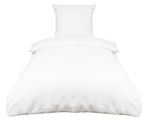 Bettwäsche (2-tlg.) 100 % Baumwolle, weiß, versch. Größen