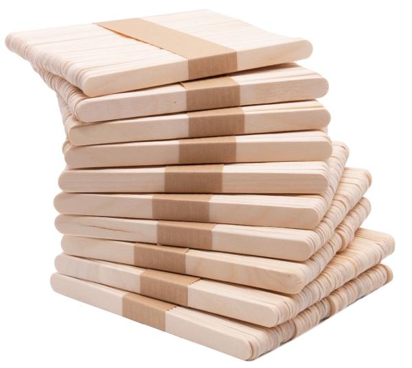 500er Set Holzstäbchen, 11x1 cm, naturbelassen