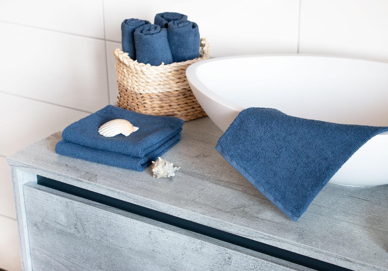 Gästehandtücher (10er Set), 100 % Baumwolle, versch. Farben