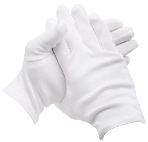 4er Set Servierhandschuhe, 100 % Baumwolle, weiß