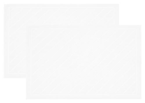 Badvorleger (2er-Set), 100% Baumwolle, weiß