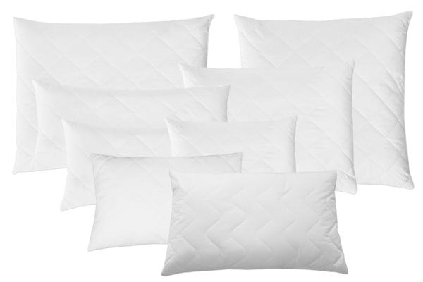 hochwertiges Kopfkissen versteppt aus 100% Polyester, verfügbar in vielen verschiedenen Größen, Farbe weiß