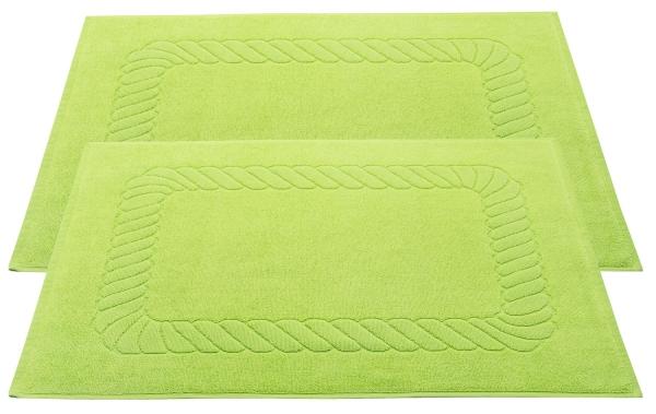 Badvorleger (2er-Set), 100% Baumwolle, versch. Farben