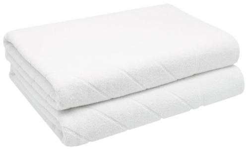 Duschtücher (2er-Set), 100% Baumwolle, 70x140 cm, weiß