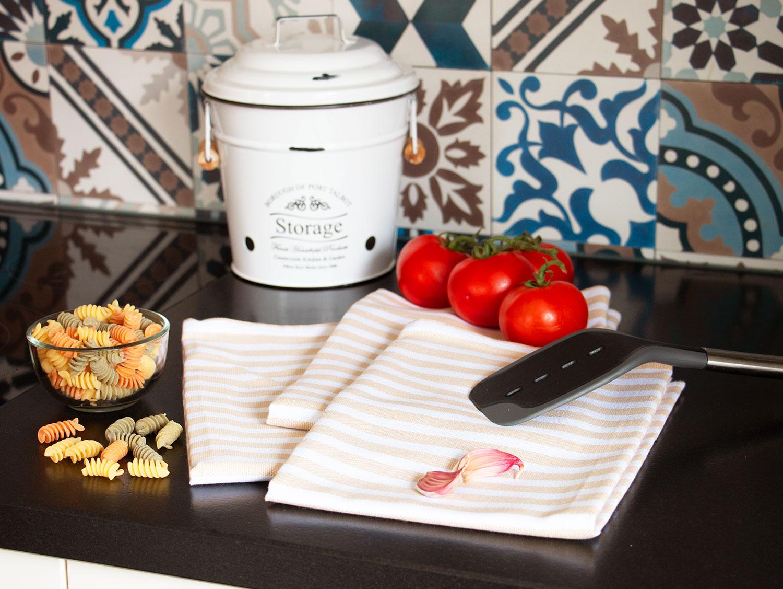 Geschirrtücher (5er-Set), 100% Baumwolle, versch. Farben