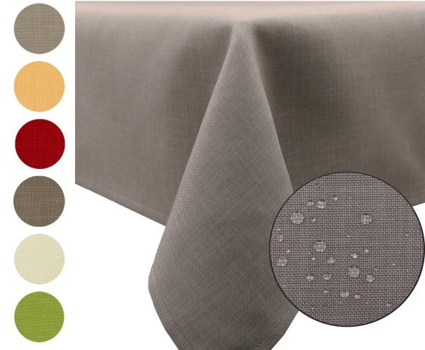 Abwischbarer Tischläufer in zarter Leinenstruktur aus 100% Polyester, mit Fleckschutzausrüstung, Größe ca. 40x180 cm, verfügbar in sieben edlen Farben
