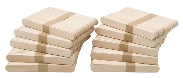 500er Set Holzstäbchen, 15x1,8 cm, naturbelassen