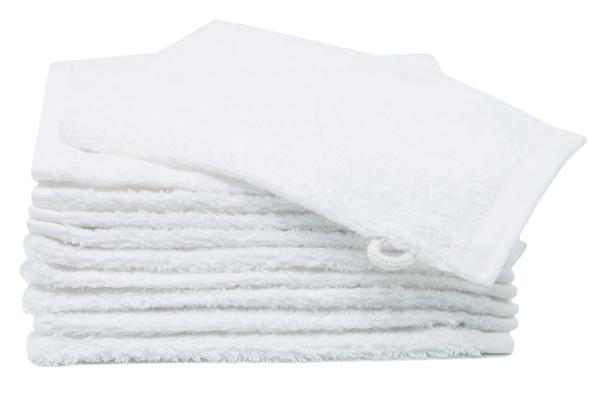 Waschlappen (10er-Set), 100% Baumwolle, weiß