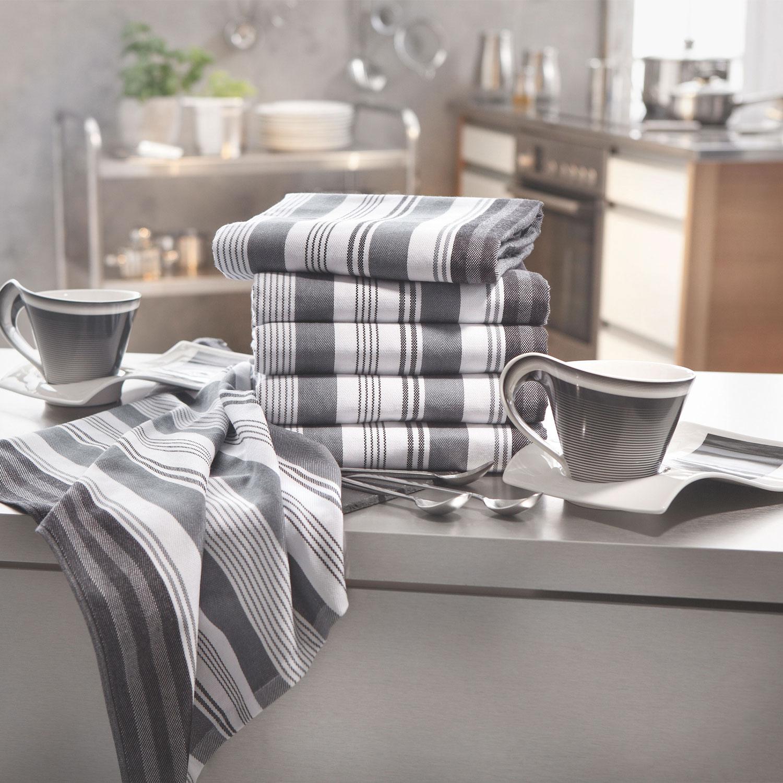 Geschirrtücher (4er-Set), versch. Farben, 100% Baumwolle