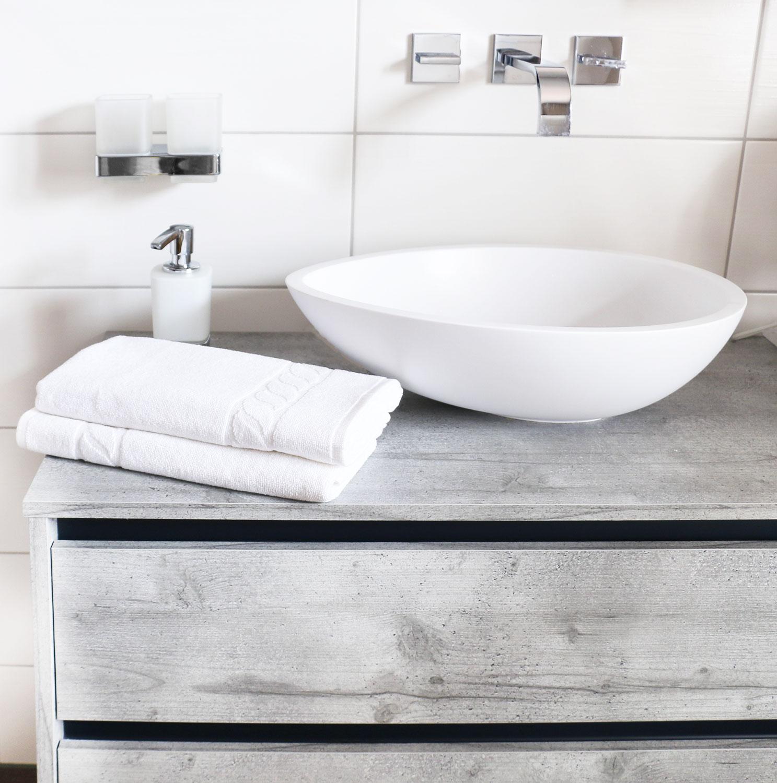 Handtücher (6er-Set), 100% Baumwolle, 50x100 cm, weiß