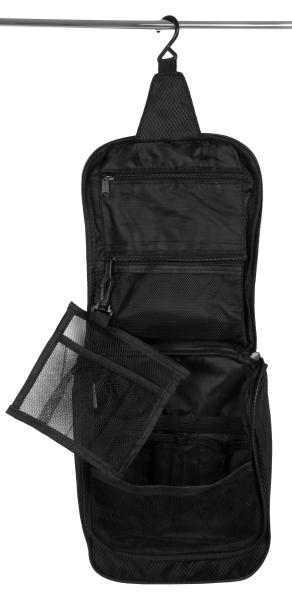 wasserdichte Kosmetiktasche mit Tragetasche aus robustem Kunststoff, Größe ca. 24x21x7 cm, Farbe schwarz
