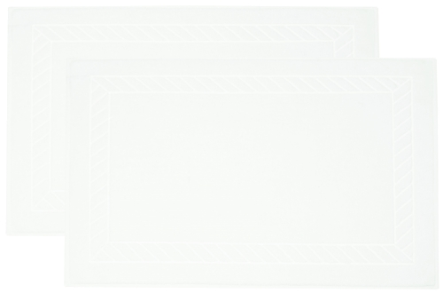 Badvorleger (2er-Set), 100% Baumwolle, Zopfmuster