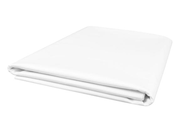 Schlichtes und zugleich edles Betttuch/Bettlaken aus 100% Baumwolle, ohne Gummizug, verfügbar in fünf verschiedenen Größen, Farbe weiß
