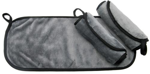 Abschminktücher (3er-Set), 40x18 cm, grau