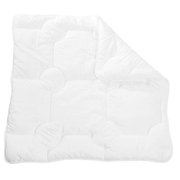 Kochfeste Kinderbettdecke/Babybettdecke mit atmungsaktiver Polyester-Füllung, verfügbar in den Größen ca. 80x80 cm und ca. 100x135 cm, Farbe weiß