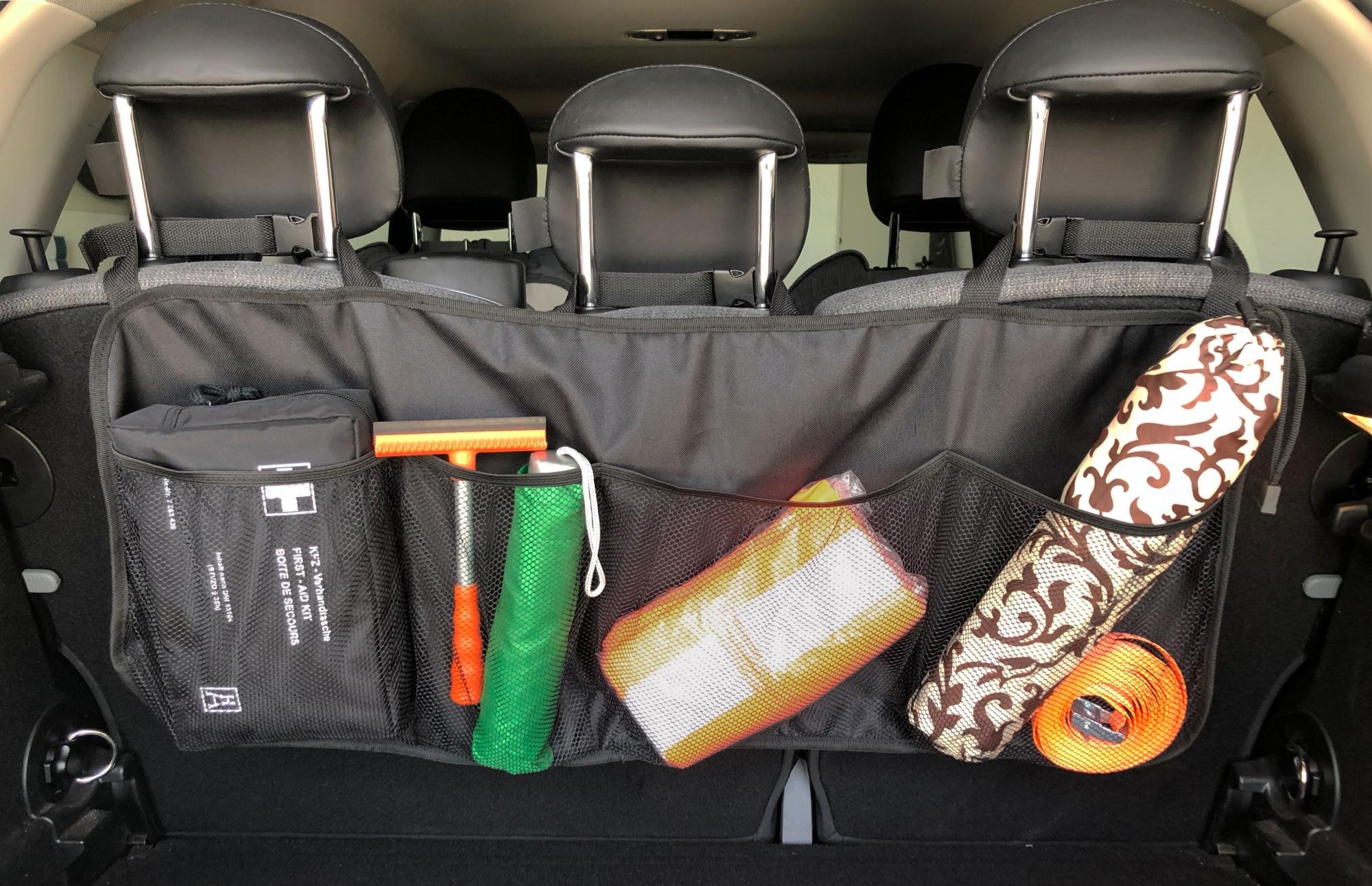 Kofferraum Organizer mit PVC-Beschichtung, 89x35 cm, schwarz