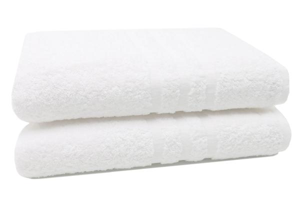 Badetücher (2er-Set), 100x150 cm, weiß