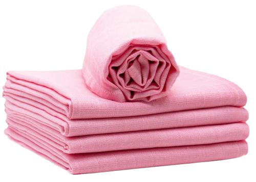 Spucktücher (5er-Set), 100% Baumwolle, rosa