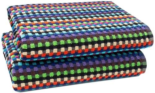 Duschtücher (2er-Set), 100 % Baumwolle, 70x140 cm, bunt