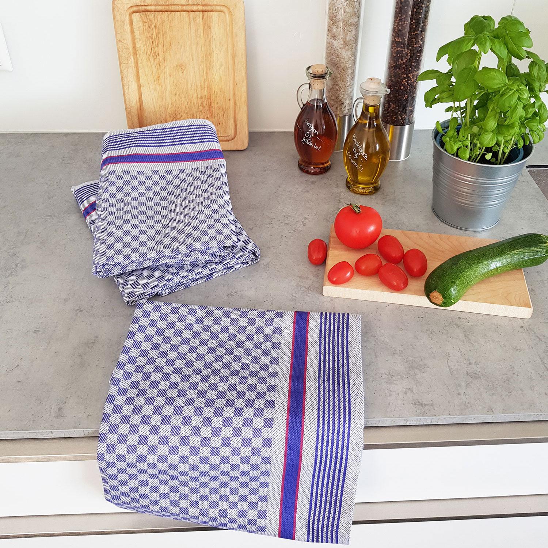 Geschirrtücher (10er-Set), 100% Baumwolle, 45x90 cm
