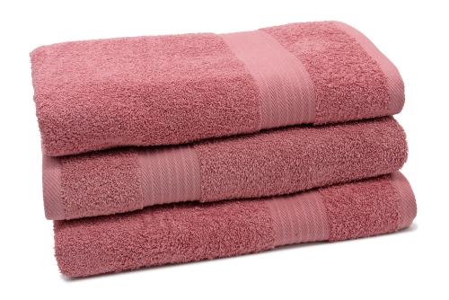 Duschtücher (3er-Set), 100% Baumwolle, versch. Farben