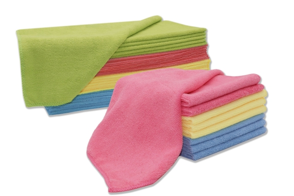 Putztücher/Microfasertücher-Set aus 80% Polyester/20% Polyamid, Größe ca. 32x32 cm, farblich gemischt, verschiedene Setgrößen